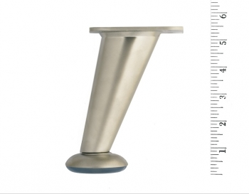 Metal Furniture Leg LR5022 Brushed Nickel